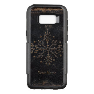 Antique Gold Leaf Add Your Name OtterBox Commuter Samsung Galaxy S8+ Case
