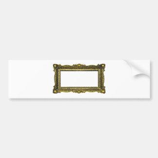 Antique Gold Picture Frame Bumper Sticker