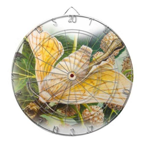 Antique Graphics, Vibrant Moth Illustration Dartboards