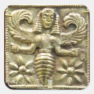 ANTIQUE GREEK HONEY BEE GODDESS SQUARE STICKER