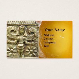 ANTIQUE GREEK HONEY BEE GODDESS WAX SEAL MONOGRAM BUSINESS CARD