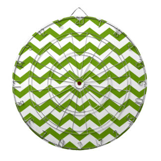Antique Green Chevrons Dartboard