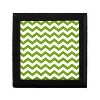 Antique Green Chevrons Gift Box