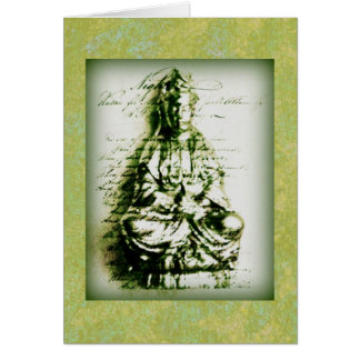 Antique Green Kwan Yin card