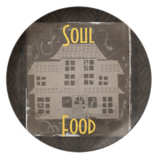 Antique Haunted House* Dinner Plate