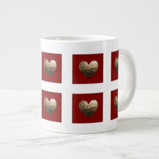 Antique heart large coffee mug
