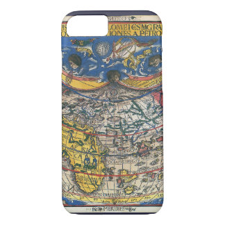 Antique Heart Shaped World Map by Peter Apian 1520 iPhone 8/7 Case