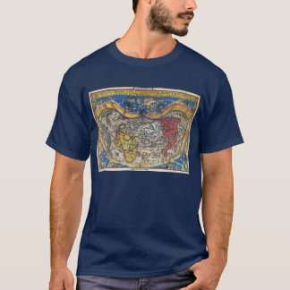Antique Heart Shaped World Map by Peter Apian 1520 T-Shirt