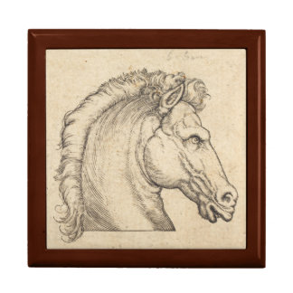 Antique Horse Head German Engraving Gift Box
