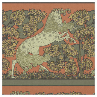Antique Horse Pattern Fabric