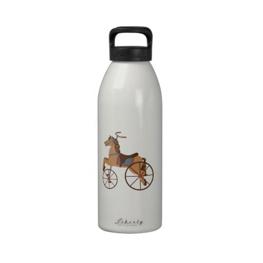 Antique Horse Tricycle Water Bottle
