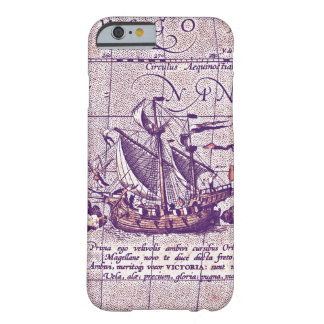 Antique Illustration Magellans Ship from Map Barely There iPhone 6 Case