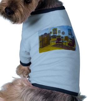antique interior dog t-shirt