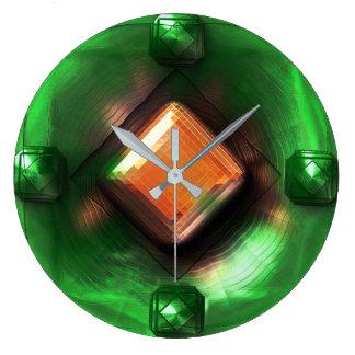 Antique Jade Clock