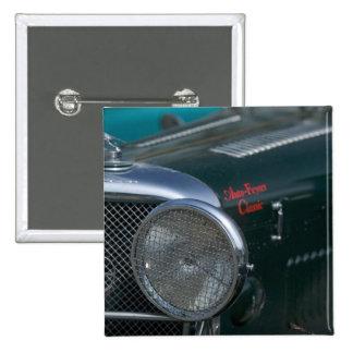 antique jaguar 2 inch square button