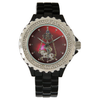ANTIQUE JEWEL ,GEMSTONES ,KNIGHT ON THE HORSE Red Watch