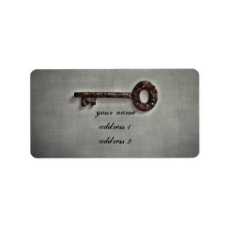 Antique key address labels