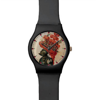 ANTIQUE KNIGHT HELMET ,DRAGONS AND RED F EATHERS WRISTWATCH