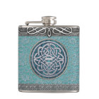 Antique Lace and Silver Decor Celtic Knot Flask
