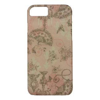 Antique Lace Fans & Roses iPhone 7 Case