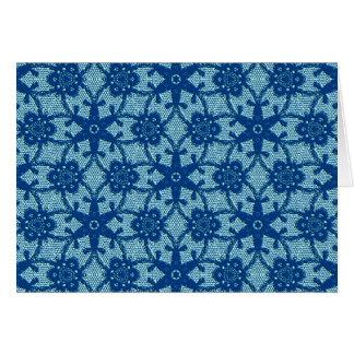 Antique lace - sapphire and pale blue card