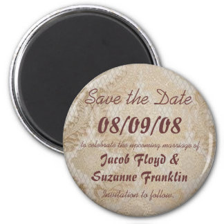 Antique Lace - Save the Date Magnets