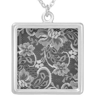 Antique Lace Square Necklace