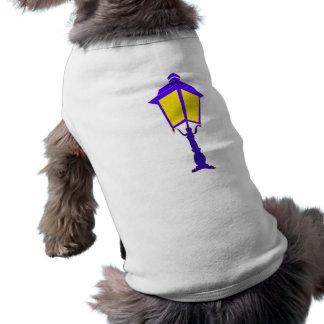 Antique lantern illuminates the darkness doggie tee shirt