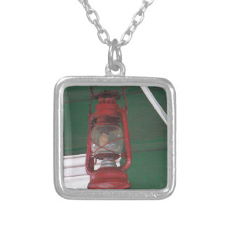 Antique Lantern Silver Plated Necklace