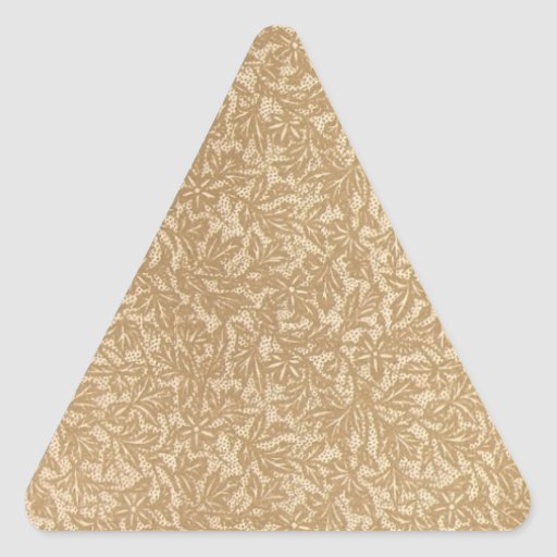 Antique leaf triangle stickers