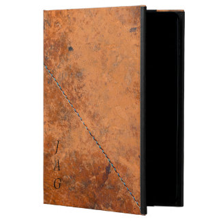 Antique Leather With Stitching Monogram Powis iPad Air 2 Case