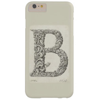 Antique Letter B Monogram Barely There iPhone 6 Plus Case