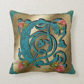 Antique Letter C - Pillow