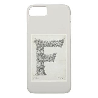Antique Letter F Monogram Initial iPhone 8/7 Case