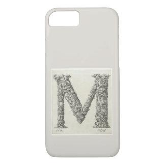 Antique Letter M Initial Monogram iPhone 8/7 Case