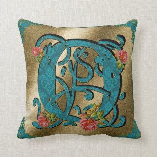 Antique Letter O - Pillow