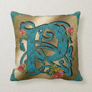Antique Letter P - Pillow
