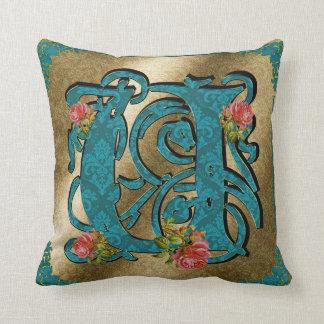 Antique Letter U - Pillow