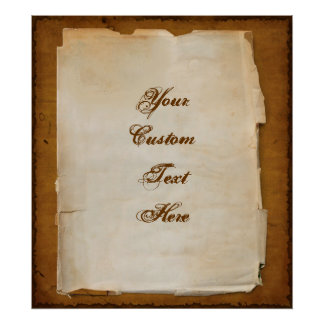 Antique Letter Write Your Own Message Custom Poster