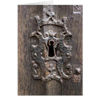 Antique Lock Card