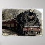 Antique Locomotive Steam Engine Train Poster