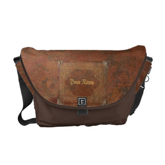 Antique look messenger bag