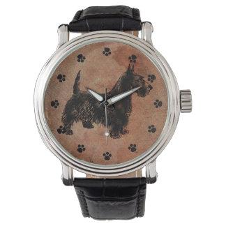 Antique Look Scottie Dog Watch