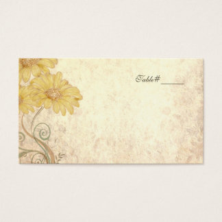 Antique Look Wedding Escort Place Cards