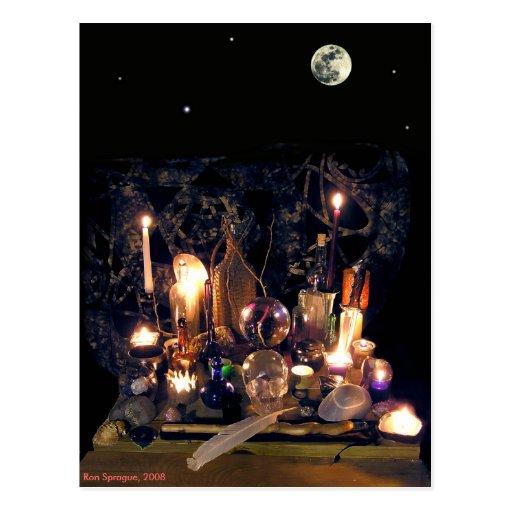 Antique Magic Postcard