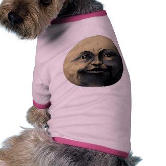 Antique Magical Moon Face Dog T-shirt