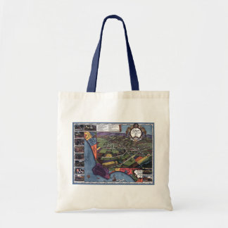 Antique Map, Aerial City of Los Angeles California