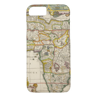 Antique Map of Africa by Hondius and Jansson iPhone 7 Case
