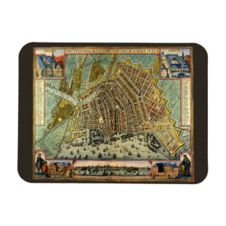 Antique Map of Amsterdam, Holland aka Netherlands Magnet