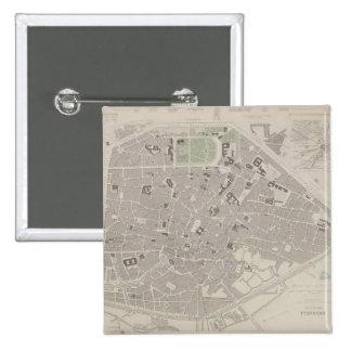 Antique Map of Belgium 2 Pinback Buttons